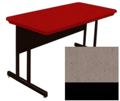 "Correll RWS3072 24 29"" Computer Training Table w/ Blow-Molded Top, 30 x 72"", Mocha Granite"