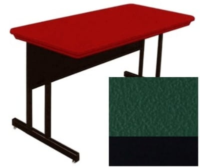 "Correll RWS3072 29 29"" Computer Training Table w/ Blow-Molded Top, 30 x 72"", Green"