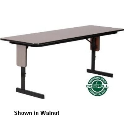 "Correll SPA2496PX 13 24 x 96"" Panel Leg Seminar and Train Table, Adjust to 32"" H, Dove Gray/Black"