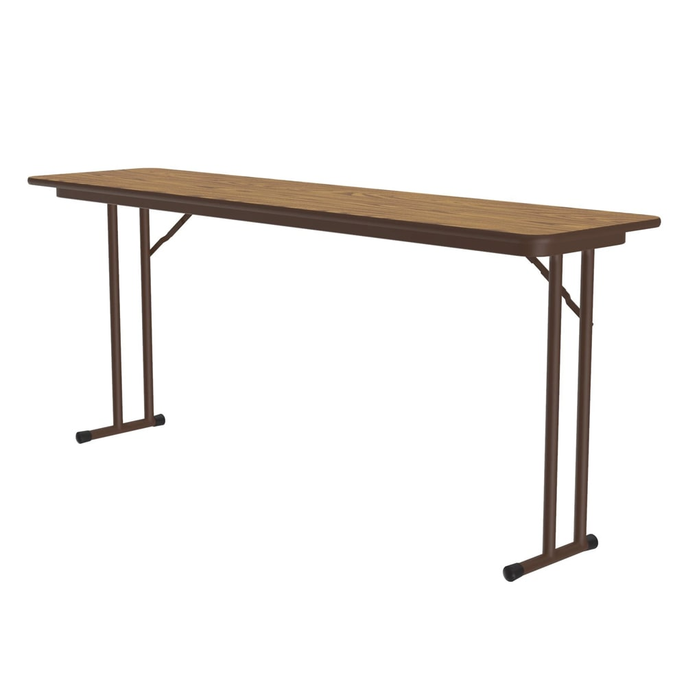 "Correll ST1860PX 06 Off-Set Leg Seminar Table w/ .75"" High Pressure Top, 18 x 60"", Oak"
