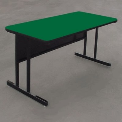 "Correll WS2448 29 29"" Desk Height Work Station w/ 1.25"" Top, 24 x 48"", Green/Black"