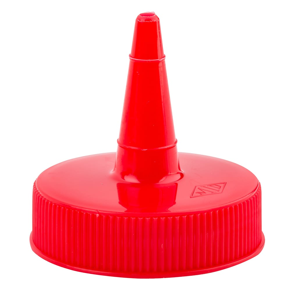 Tablecraft 100TK Squeeze Bottle Top, Cone Shaped, Red
