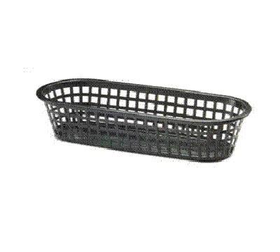 Tablecraft 1018BK Sub Basket, 14 x 5.5 x 3-in Oblong, Black