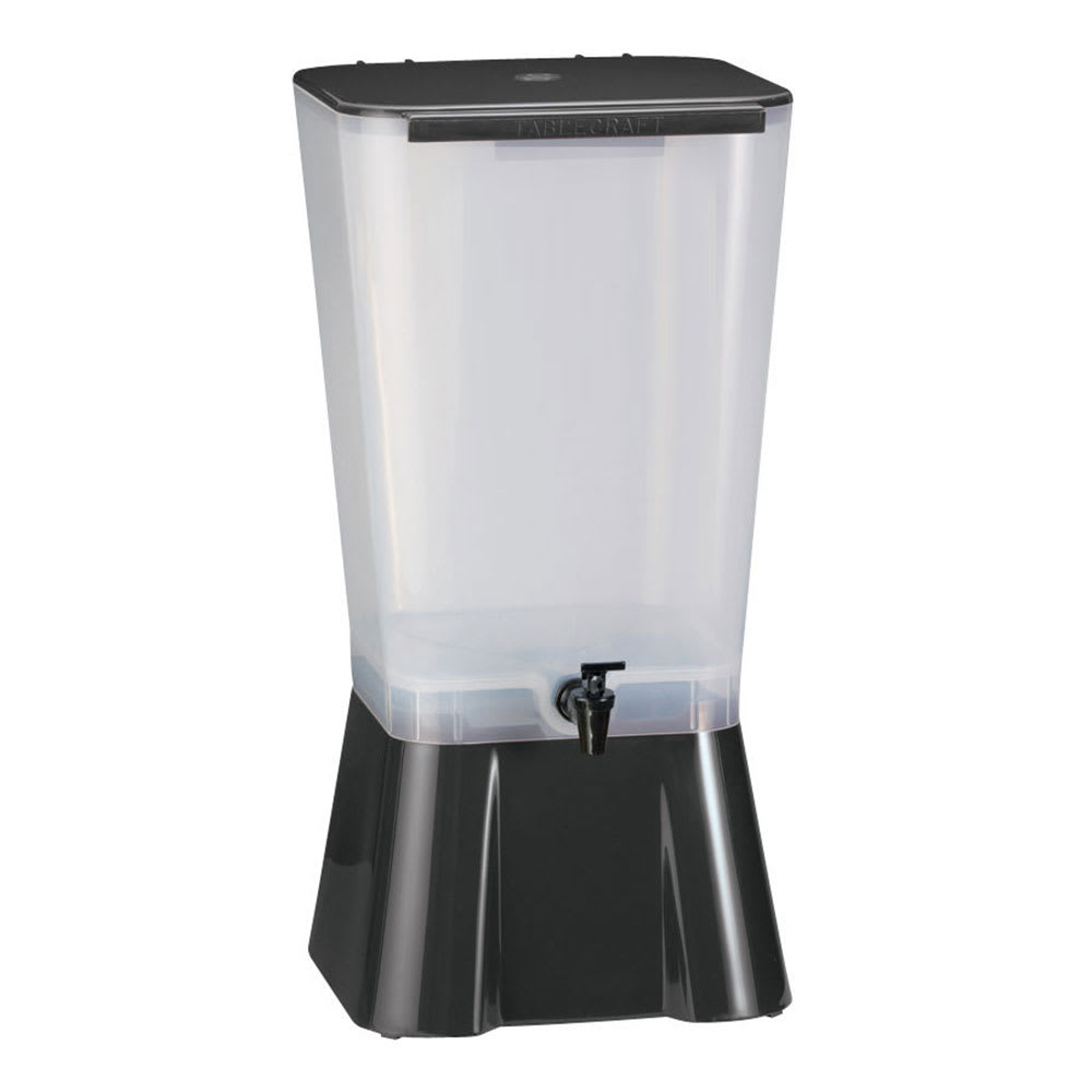 Tablecraft 1053 5 Gallon Beverage Dispenser, Polypropylene, Black