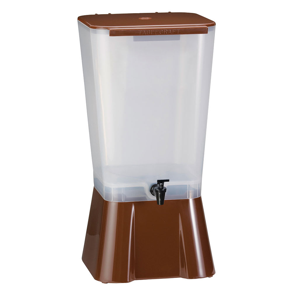 Tablecraft 1054 Traditional Beverage Dispenser, 5 Gallon, Brown, Tomlinson Faucet