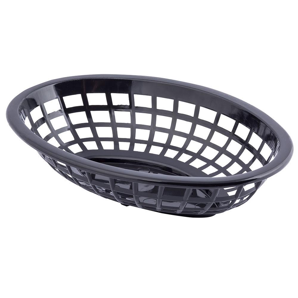 "Tablecraft 1071BK Oval Side Order Basket, 7.73 x 5.5 x 1-7/8"", Black"