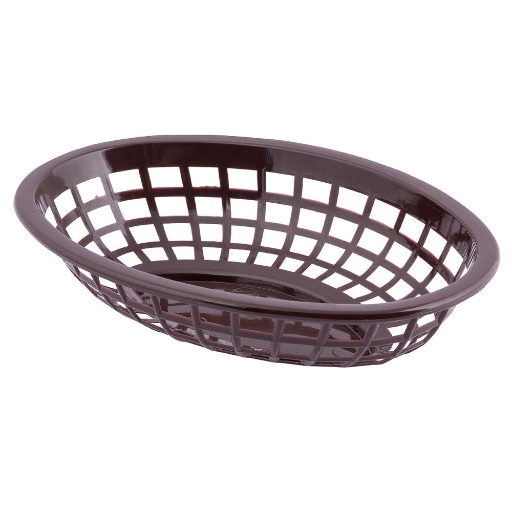 "Tablecraft 1071BR Oval Side Order Basket, 7.73 x 5.5 x 1-7/8"", Brown"