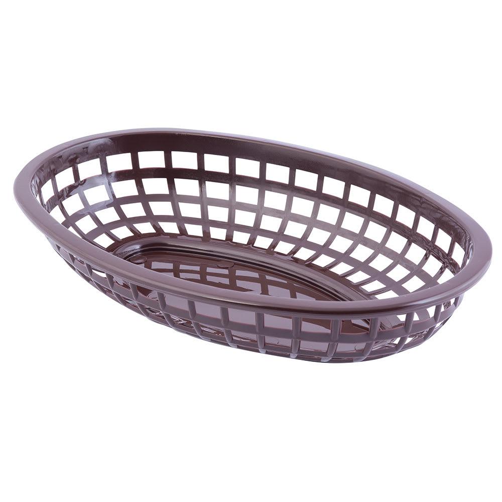 "Tablecraft 1074BR Classic Basket, 9 3/8 x 6 x 1 7/8"", Polyethylene, Brown"