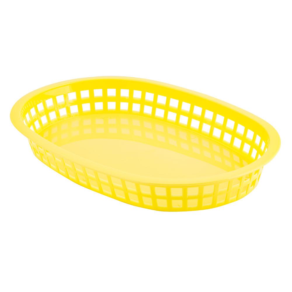 "Tablecraft 1076Y Chicago Platter Basket, 10.5 x 7 x 1.5"", Oval, Yellow"