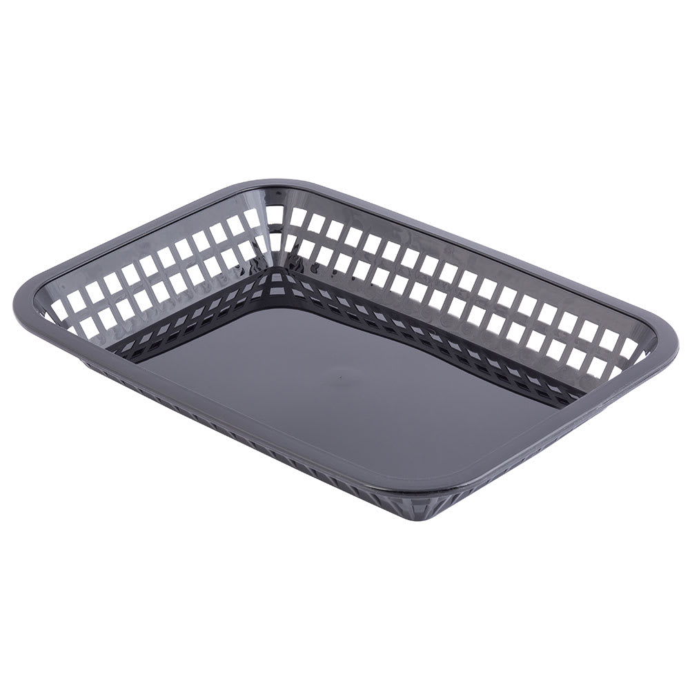 "Tablecraft 1077BK Grande Platter Basket, 10.75 x 7.75 x 1.5"", Rectangular, Black"