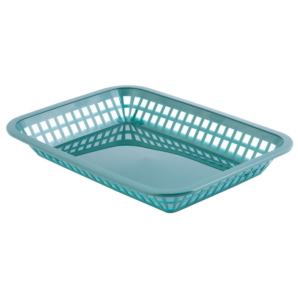 """Tablecraft 1077FG Platter Basket, 10 3/4 x 7 3/4 x 1 1/2"""", Polypropylene, Green"""
