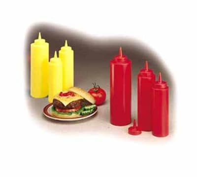 Tablecraft 108K Squeeze Dispenser, 8 oz, Red, Dozen