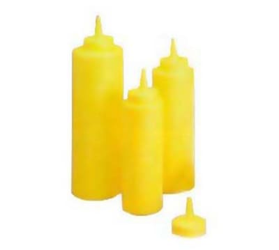 Tablecraft 108M Squeeze Dispenser, 8 oz, Yellow, Dozen