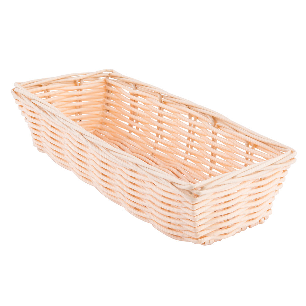 "Tablecraft 1116W Handwoven Basket, 9 x 3-1/2 x 2"", Polypropylene, Rectangular"