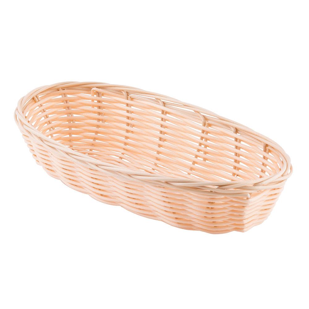 """Tablecraft 1117W Handwoven Basket, 9 x 3 1/2 x 2"""", Polypropylene, Oblong"""