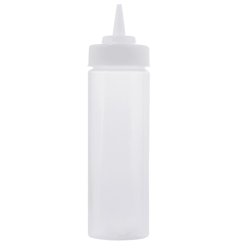 Tablecraft 11253C Squeeze Dispenser, Wide Mouth, Polyethylene, Natural, 12 Oz.