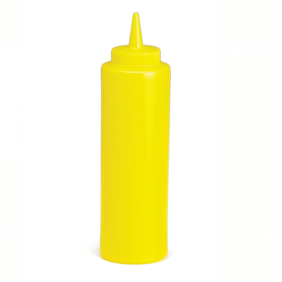 Tablecraft 11253M 12-oz Wide Mouth Squeeze Dispenser, Mustard, Standard Cone Tip