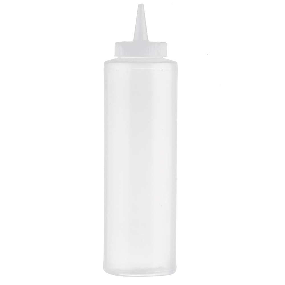 Tablecraft 112C-1 12-oz Cone Tip Squeeze Dispenser w/ Natural Top, Poly