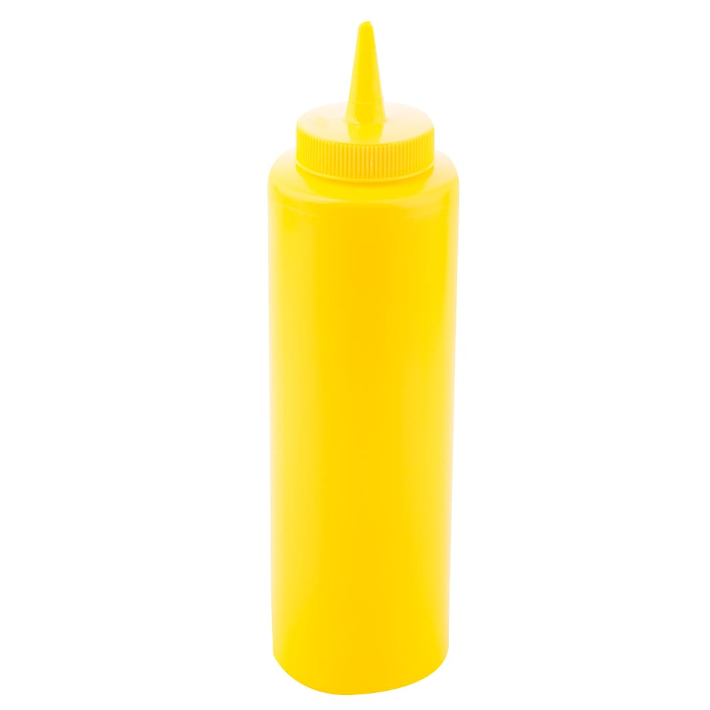Tablecraft 112M Squeeze Dispenser, 12 oz, Yellow, Dozen