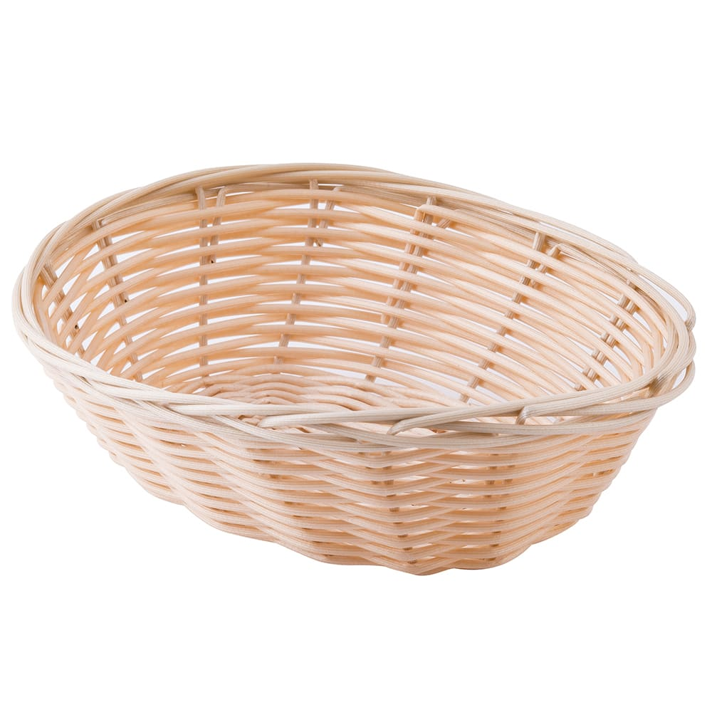 "Tablecraft 1171W Handwoven Basket, 7 x 5 x 2"", Polypropylene Cord, Oval"