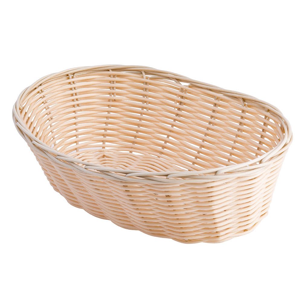 "Tablecraft 1176W Woven Basket, 10"", Oval, Natural"
