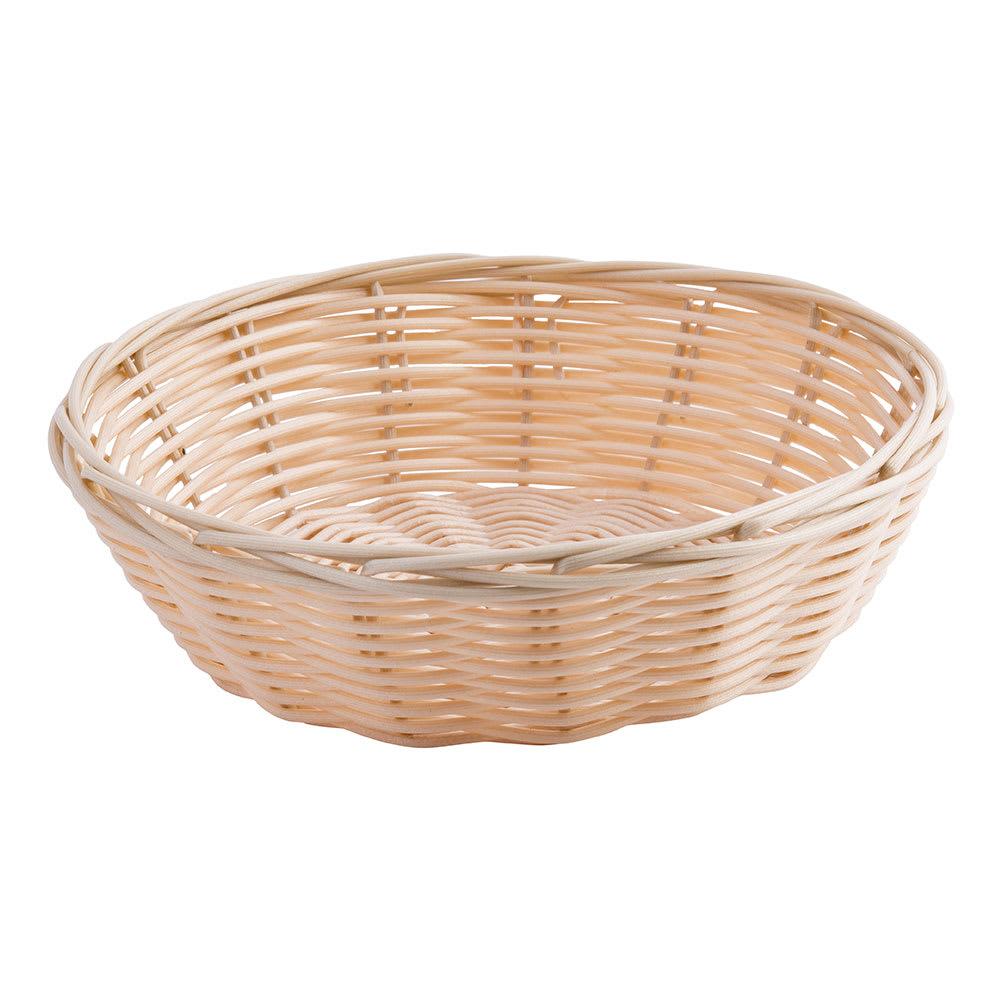 """Tablecraft 1177W Handwoven Basket, 7 x 2"""", Polypropylene Cord, Round"""