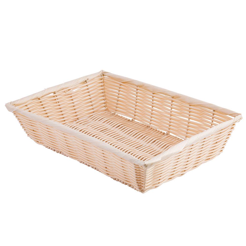 "Tablecraft 1188W Handwoven Basket, 14 x 10 x 3"", Polypropylene Cord, Natural"