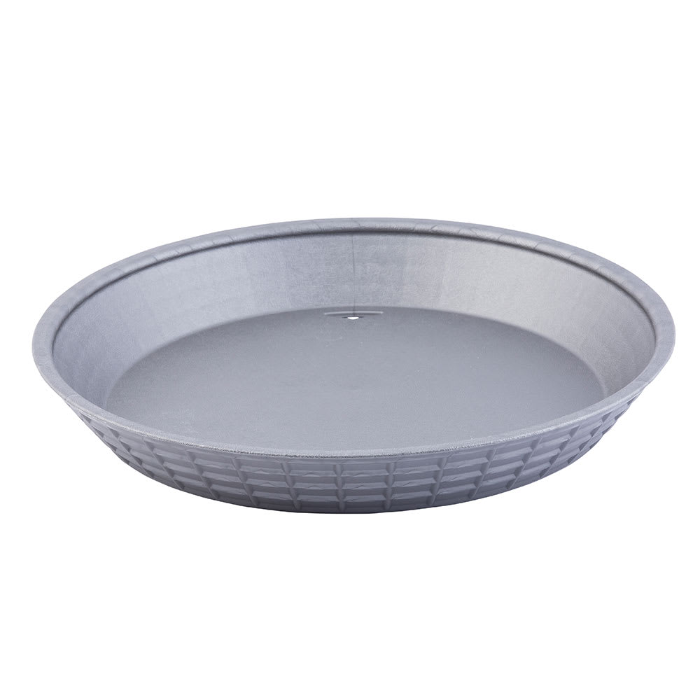 "Tablecraft 137510GM 10-1/2"" Round Platter Basket - Polypropylene, Gunmetal"