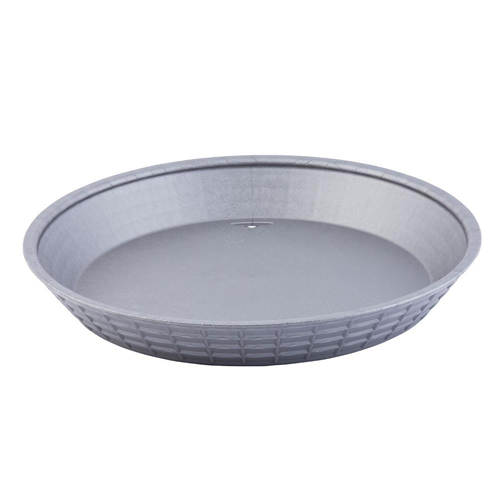 "Tablecraft 137510GM 10-1/2"" Round Platter Basket - Polypropylene, Gunmetal"