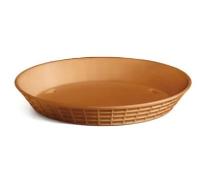 Tablecraft 137510TC 10.5-in Round Platter Basket, Polypropylene, Terra Cotta