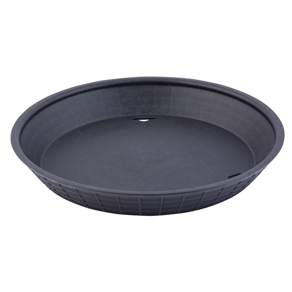 "Tablecraft 13759BK Round Platter Basket, Microwave Safe, Polypropylene, 9"", Black"
