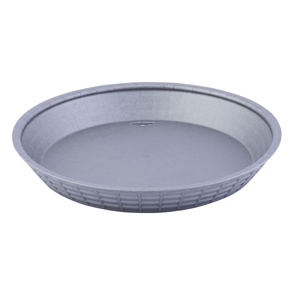 "Tablecraft 13759GM 9"" Round Platter Basket - Polypropylene, Gunmetal"