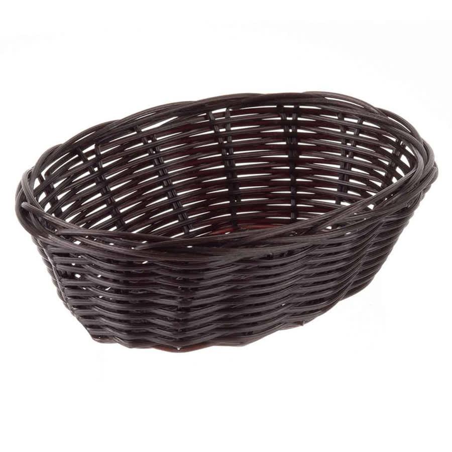 """Tablecraft 1471 Handwoven Basket, 7"""" x 5"""" x 2"""" Oblong, Brown"""