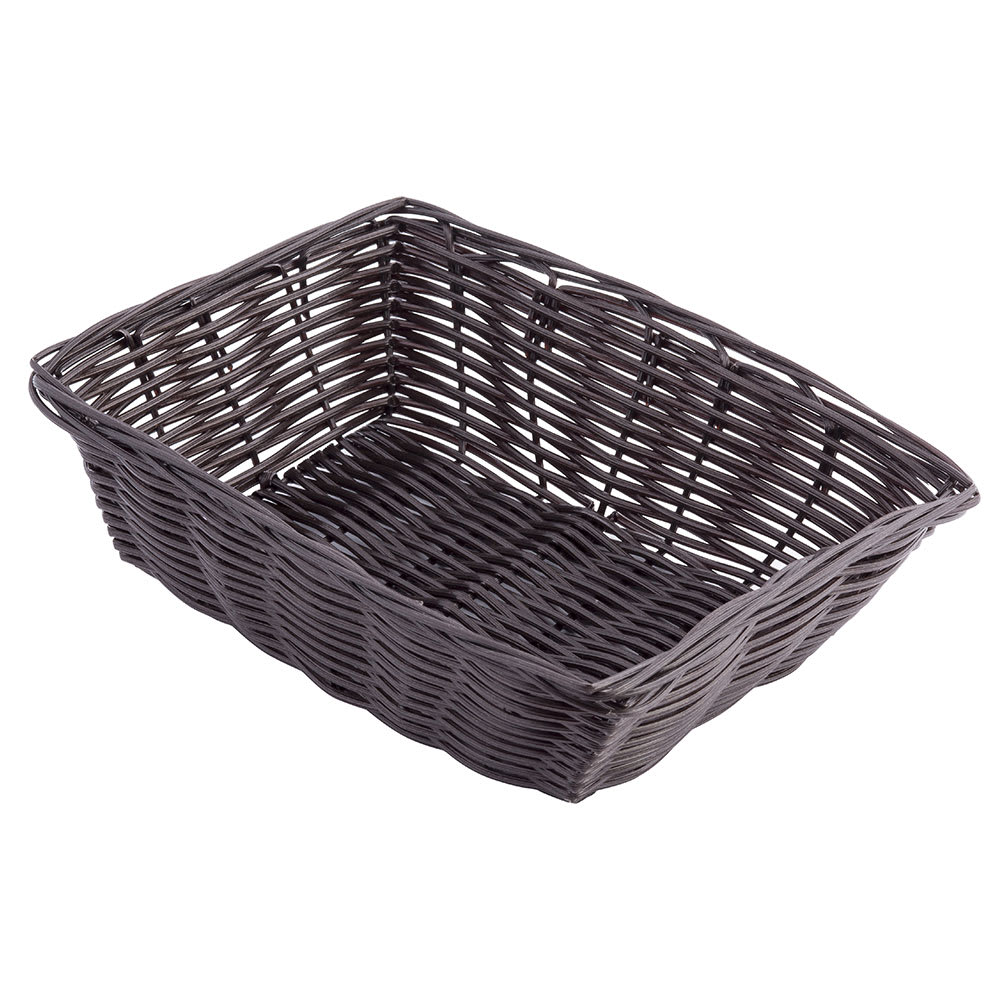 "Tablecraft 1472 Handwoven Basket, 9 x 6 x 2-1/2"", Polypropylene Cord, Brown"