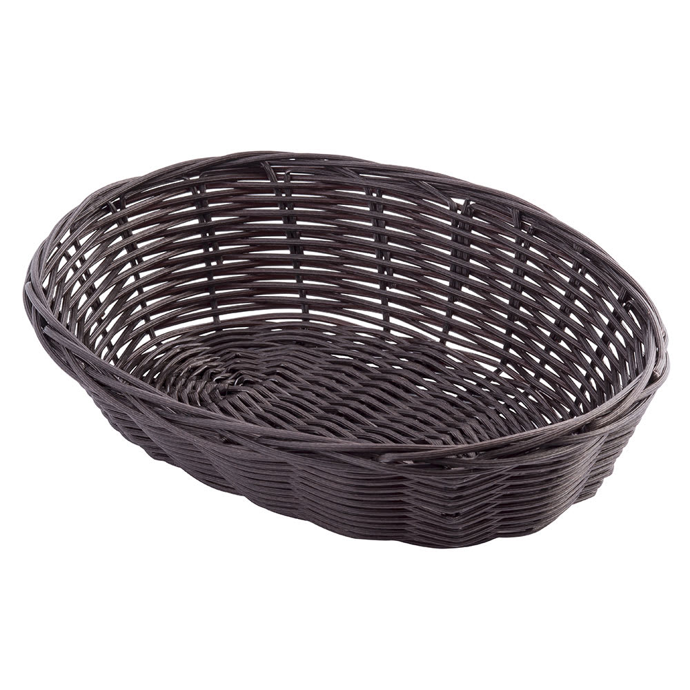 "Tablecraft 1474 Handwoven Basket, 9 x 6 x 2 1/4"", Polypropylene Cord, Brown"