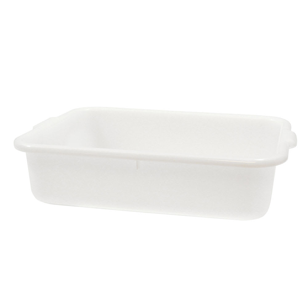 "Tablecraft 1529N Polyethylene Food Storage Box, 21.25 x 15.75 x 5"", White"