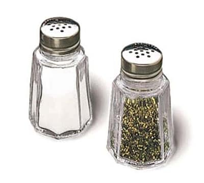 "Tablecraft 152S&P 3"" Salt/Pepper Shaker w/ Metal Lid, Paneled"