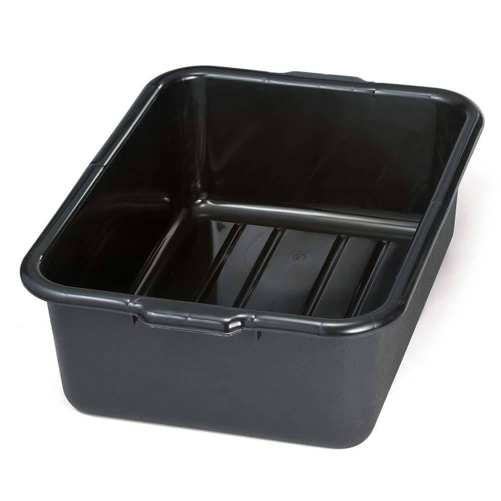 "Tablecraft 1537E Tote Box, 21 1/4 x 15 3/4 x 7"", Recycled, Black"