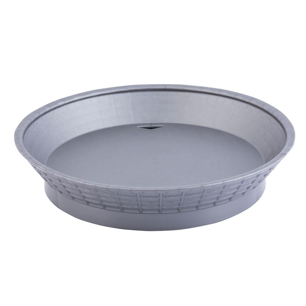 "Tablecraft 157510GM 10 1/2"" Round Platter Basket with Base - Polypropylene, Gunmetal"