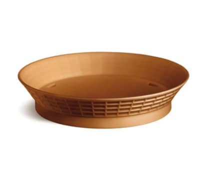 "Tablecraft 157510TC 10.5"" Round Platter Basket w/ Base, Poly, Terra Cotta"