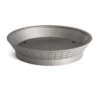 "Tablecraft 157512GM 12"" Round Platter Basket with Base - Polypropylene, Gunmetal"