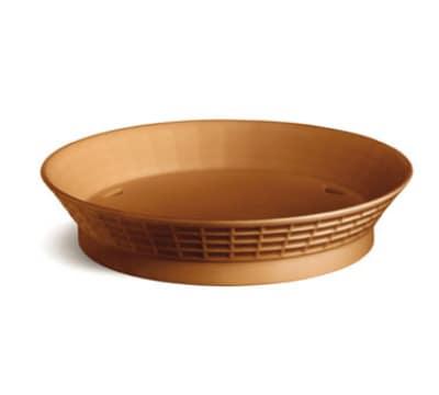 "Tablecraft 157512TC 12"" Round Platter Basket w/ Base, Poly, Terra Cotta"