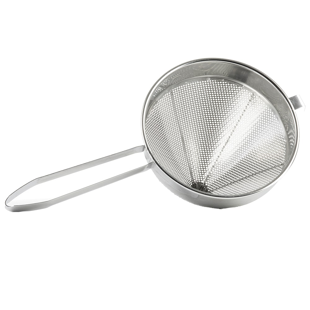 Tablecraft 1610 4 Quart China Cap Strainer, Heavy Duty, Stainless Steel