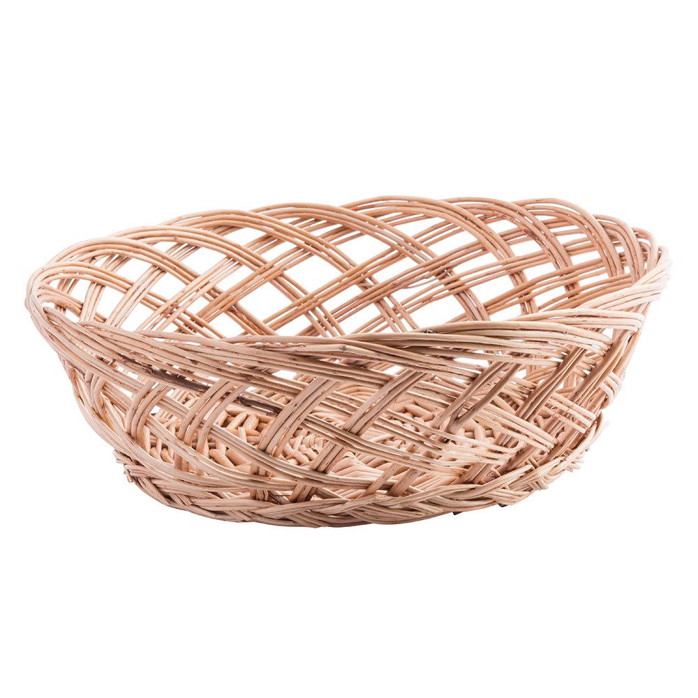 """Tablecraft 1635 Willow Basket, 9 x 3-1/3"""", Round, Open Weave"""