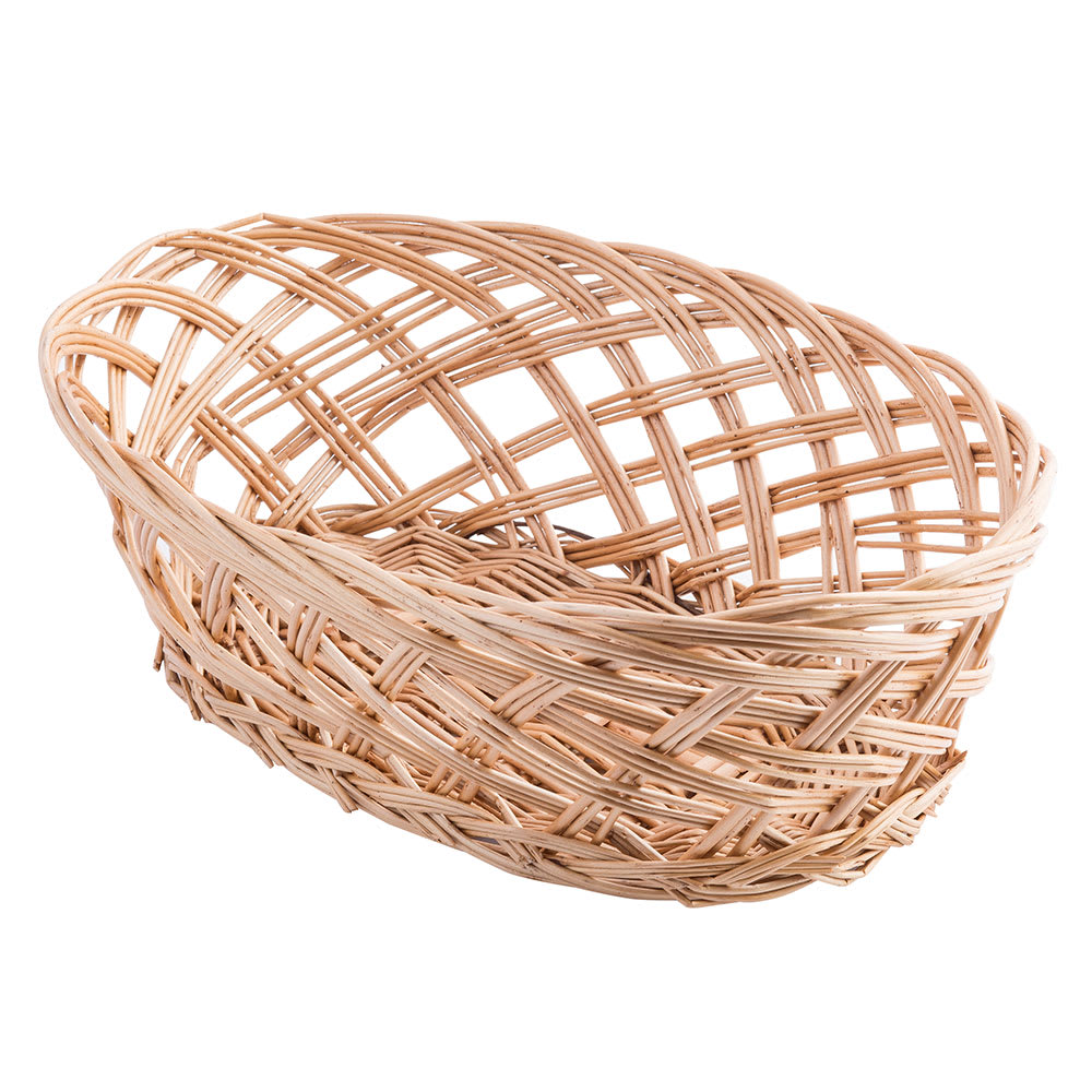 "Tablecraft 1636 Willow Basket, 10 x 6 1/2 x 3 1/4"", Oval, Open Weave"