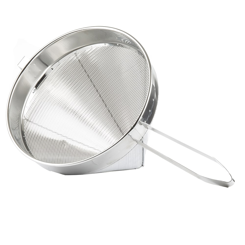 Tablecraft 1712 6 Quart China Cap Strainer, Heavy Duty Stainless Steel