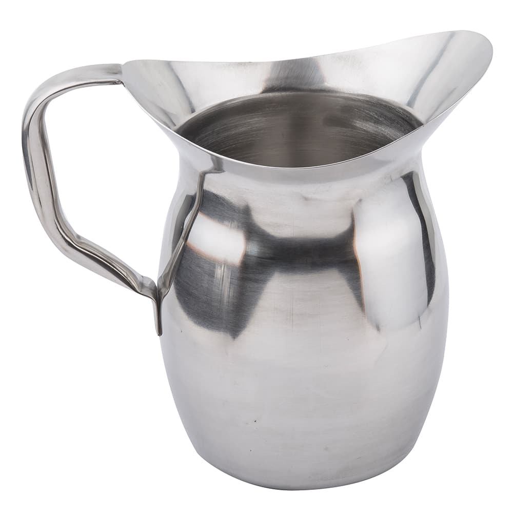 Tablecraft 203 3 Quart Bell Water Pitcher, Stainless Steel, Mirror Finish