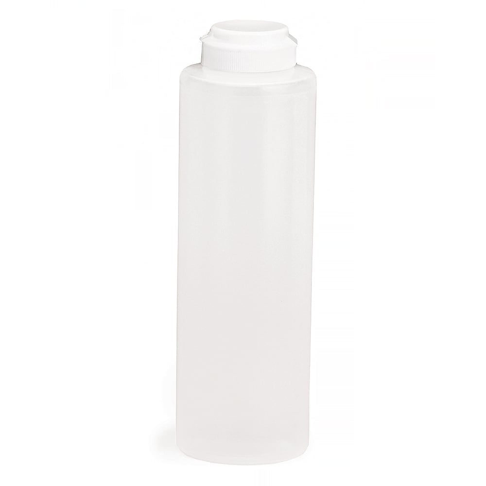 Tablecraft 2112C-1 12 oz Squeeze Dispenser, Soft Polyethylene, Natural, White