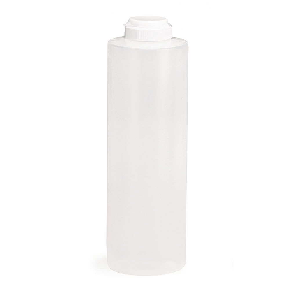 Tablecraft 2124C-1 24 oz Squeeze Dispenser, Soft Polyethylene, Natural, White