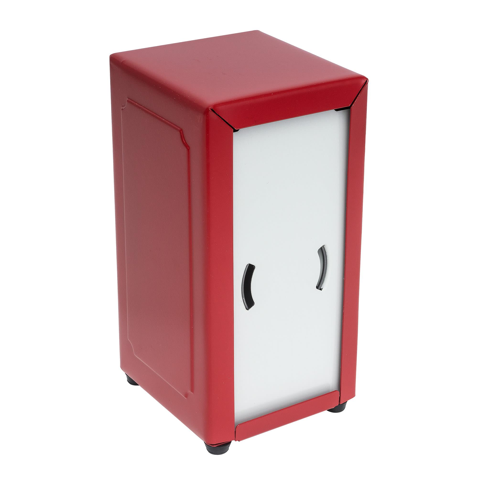 "Tablecraft 2211 Napkin Dispenser, 4-3/4 x 3-7/8 x 7-1/2"", Full Size, Red"